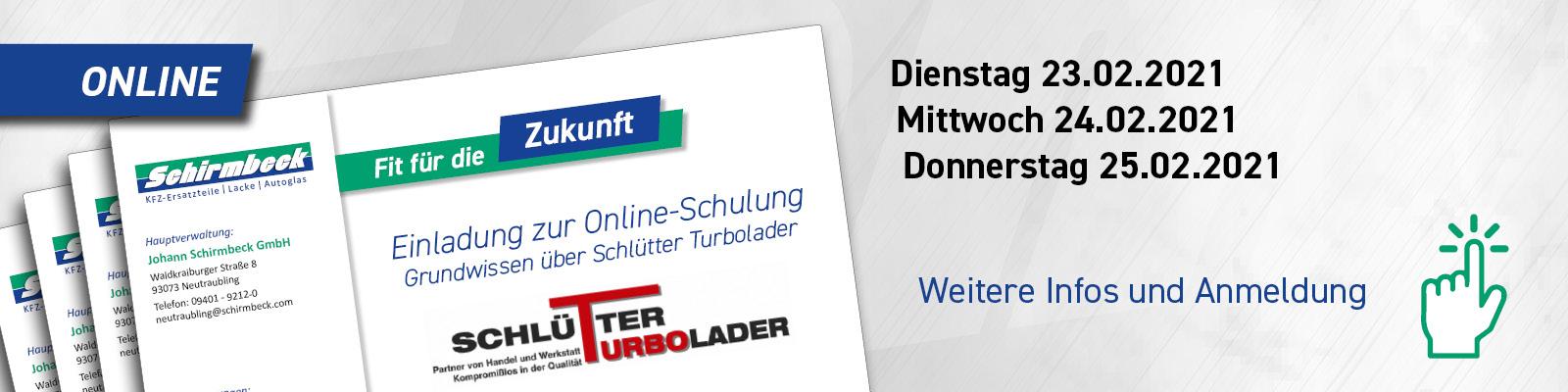 Anmeldung Schlütter Online Schulung